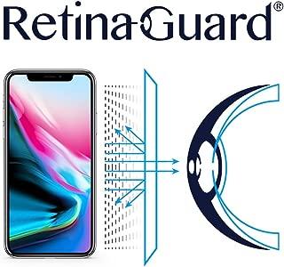 RetinaGuard iPhone Xs, iPhone X Anti Blue Light Screen Protector (Transparent), SGS and Intertek Tested, Blocks Excessive Harmful Blue Light, Reduce Eye Fatigue and Eye Strain