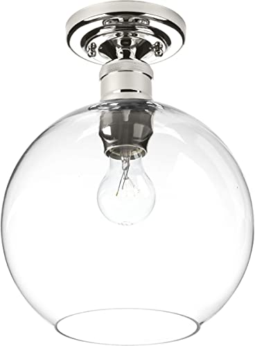 high quality Progress Lighting P350046-104 Hansford Close-to-Ceiling, online sale Polished sale Nickel online sale