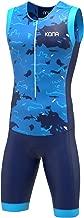 KONA Assault Triathlon Race Suit - Speedsuit Skinsuit Trisuit Sleeveless - One-Piece Vest and Short Combo Full Zip with Rear Pockets