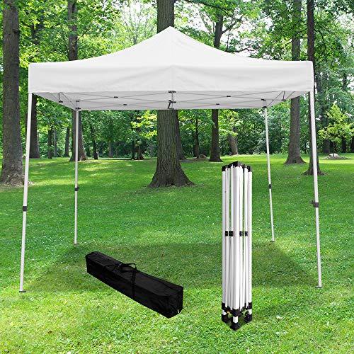Skylanden Gartenpavillon faltbar 3 x 3 m 520D (320 g/m²) – Profi-Qualität Pavillon Barnum faltbar – Pagozelt faltbar wasserdicht ideal für Empfang im Freien