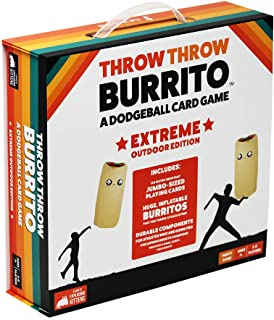Throw Throw Burrito - Extreme Outdoor Edition by Exploding Kittens - A Dodgeball Card Game