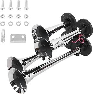 Rosvola Kit de buzina de trens, 12V/24V buzina de ar 150dB liga de aço de instalação simples para peças automotivas