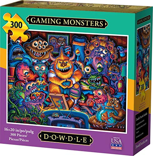 Dowdle Jigsaw Puzzle - Gaming Monsters - 300 Piece