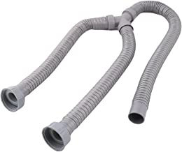 uxcell 3.9Ft Washing Machine PVC Y Shaped Drain Discharge Hose Washer Pipe Connector