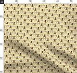 Käfer, Bienen, Gelb Stoffe - Individuell Bedruckt von