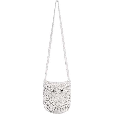 CHIC DIARY Strohtasche Damen Crossbody Tasche Retro Strandtasche Umhängetasche Schultertasche Handytasche für Freizeit Urlaub