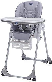 comprar comparacion Chicco Polly Easy - Trona amplia, compacta y sencilla, 4 ruedas, para niños de 6 meses a 3 años, color gris (Nature)