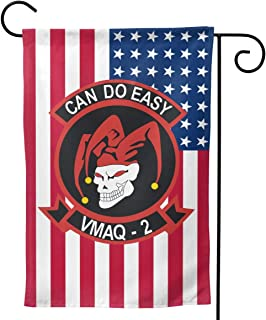 Q7arm US Flag Marine Tactical Electronic Warfare Squadron 2 of MAG 14 Double-Sided Decorative Garden Flag Home House Flag -12.5x18inch | 28x40inch