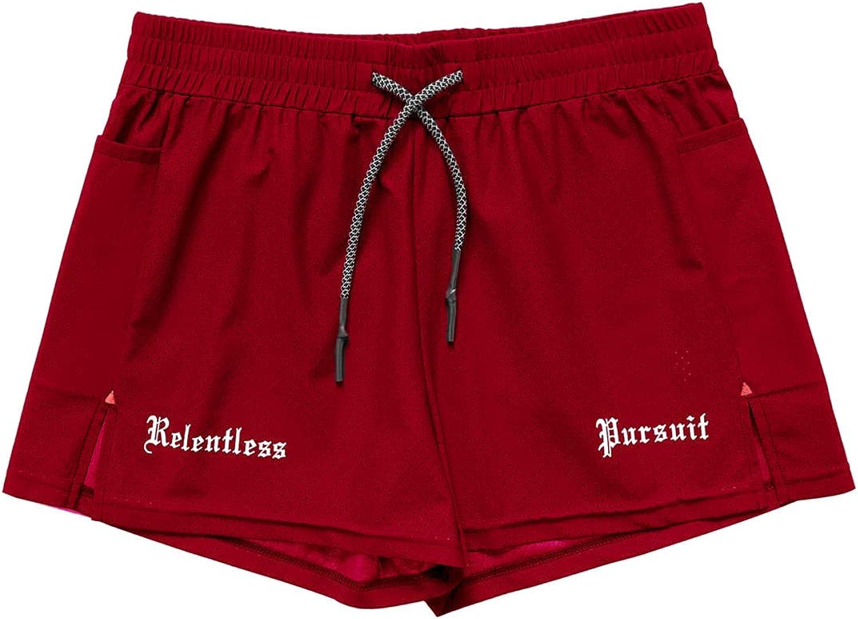 Jubaton Spring and Summer Men's Elastic Waist Drawstring Shorts Casual Breathable