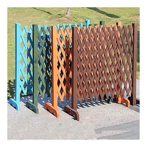 YNuo La expansión de la Cerca de Madera Pared del jardín de Subida Planta de Paneles de partición Enrejado jardín Decorativo de la Cerca por Yard Inicio la decoración del jardín (Color : Green)