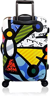 Romero Britto Luggage Collection By Heys USA 26'' Spinner Suitcase (Butterfly)
