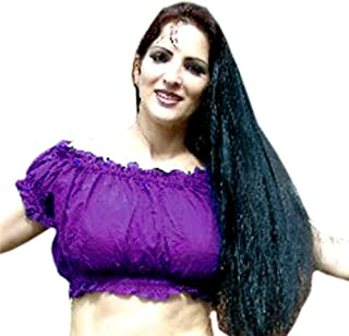Choli Belly Dance Winged Arm Top Tribal Gypsy Costume Size 10-24 upto 4XL