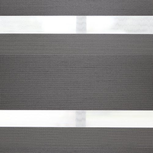 Best Home Fashion Pemium Blackout Duo Roller Window Shade – Grey – 28″ W x 64″ L