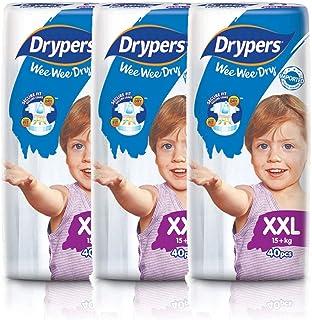 Drypers Wee Wee Dry Diapers, XXL, Case, 3 packs x 40 Count