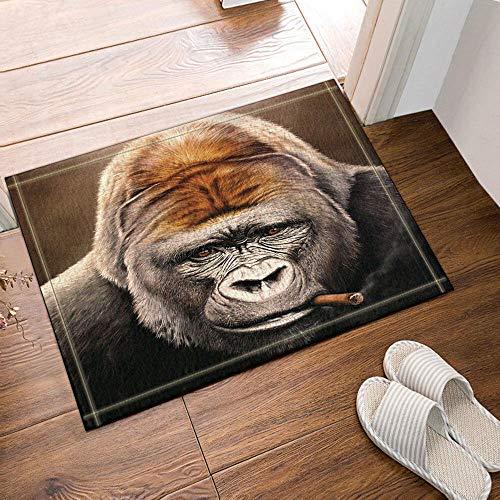Rauchen Gorilla Duschvorhang Home Badezimmer Dekor Stoff und 12hooks 71 * 71inches