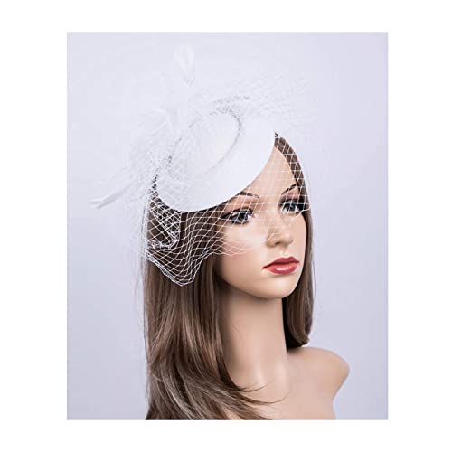 Fascinators Hats 20s 50s Hat Pillbox Hat Cocktail Tea Party Headwear with  Veil for Girls and 1100a4baf21