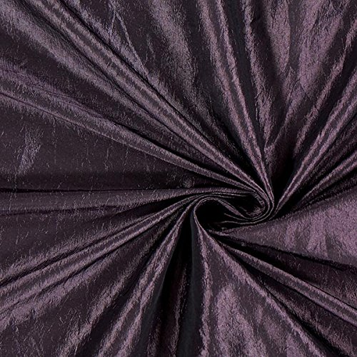 Fabulous Fabrics Taftstoff Crash – aubergine — Meterware ab 0,5m — zum Nähen von Abend- und Partymode