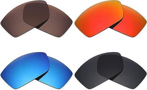 Mryok 4Paires Polarisées Lentilles de RemplaceHommest pour Costa Del MAR Corbina Lunettes de Soleil Stealth Noir Rouge Feu Ice Bleu Bronze Marron
