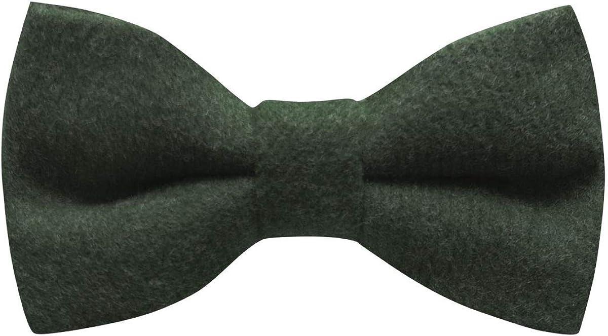 Luxury Hunter Green Donegal Tweed Bow Tie, Tweed