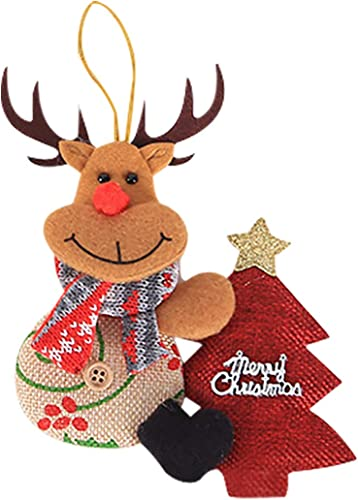 lowest OPTIMISTIC Felt Holiday Tree online sale Ornament, 5In Plush Christmas Tree Ornaments Decoration, Plush Hanging Xmas new arrival Decorations for Holiday Home Winter Pendants Stocking Stuffer online