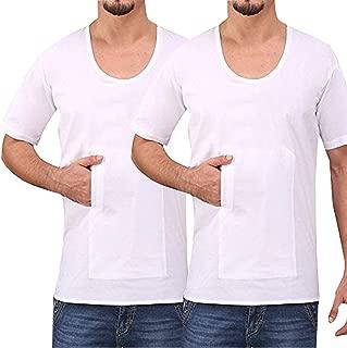 KOPASS Cotton Men Pocket Vest_Pack of 2_White