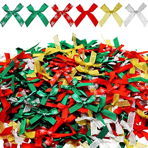 WILLBOND 400 Piezas Lazos de Cinta Lazos Brillantes para Fiesta de Cumpleaños Boda Decoración de Hogar Manualidades de Envoltura de Regalo, Colores Surtidos