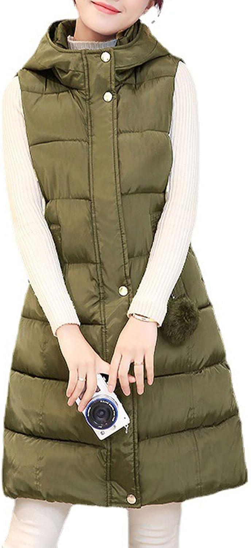 Yimoon Women's Winter Sleeveless Hooded Quilted Zip Vest Outwear