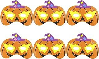 KESYOO 12pcs Máscaras de dibujos animados de Halloween Cosplay Máscaras de calabaza de papel Divertido rendimiento apoyos del partido para los niños