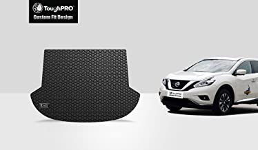 ToughPRO Cargo/Trunk Mat Compatible with Nissan Murano - All Weather - Heavy Duty - (Made in USA) - Black Rubber - 2015, 2016, 2017, 2018, 2019, 2020