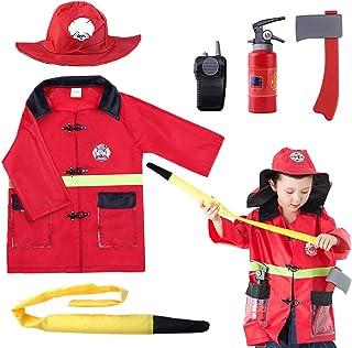 iPlay، iLearn Kids Fire Fire Head، ست لباس لباس هالووین ، لباس آتش بازی ، نقش قبل بازی نقش هدیه آتش نشان را برای 3 ، 4 ، 5 ، 6 ساله کودک نوپا بازی کنید