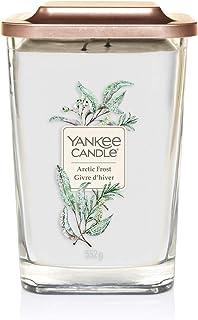 Yankee Candle bougie parfumée carrée à deux mèches et couvercle, grande taille, collection Élévation, senteur Gelée arctique