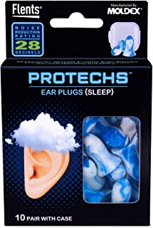 Flents Protechs Sleep Ear Plugs (10 Pair) NRR 28