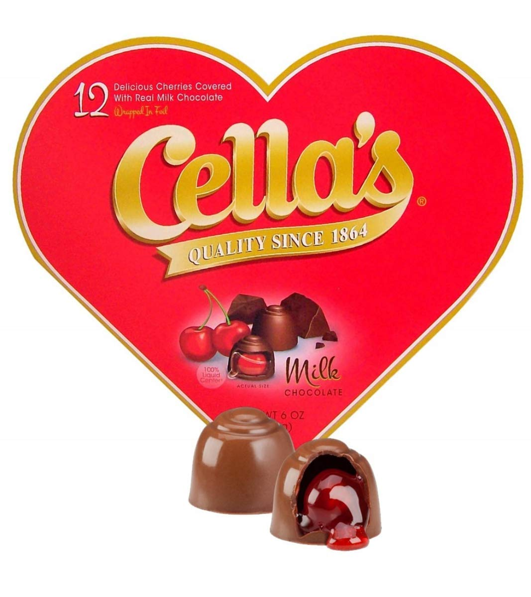 Valentine Cella's Milk Chocolate Foil Wrapped Count Cherries Ranking TOP16 40% OFF Cheap Sale 12