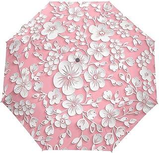 HKXR Full Automatic 3D Floral Guarda Chuva White Chinese Sun Umbrella 3 Folding Umbrella Rain Women Anti UV Outdoor Travel Sombrinha (Color : Item7)