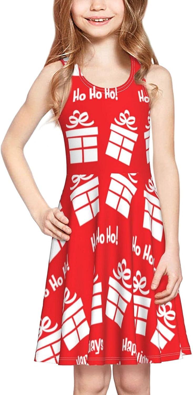 YhrYUGFgf Pattern Dress Girl's Cute Casual Skirt Tank Dress