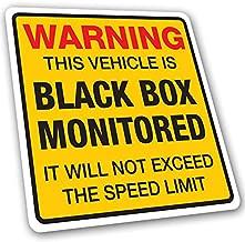 Warning Black Box Monitored Speed Limit Car Sticker