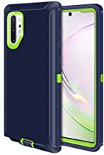 Jelanry Samsung Galaxy Note 10 Plus Case Heavy Duty Armor Dual Layer Full Body Protective Shell Galaxy Note 10 + 5G Case Shockproof Sports Anti-Scratches Cover Non-Slip Bumper Hybrid Case Blue/Green