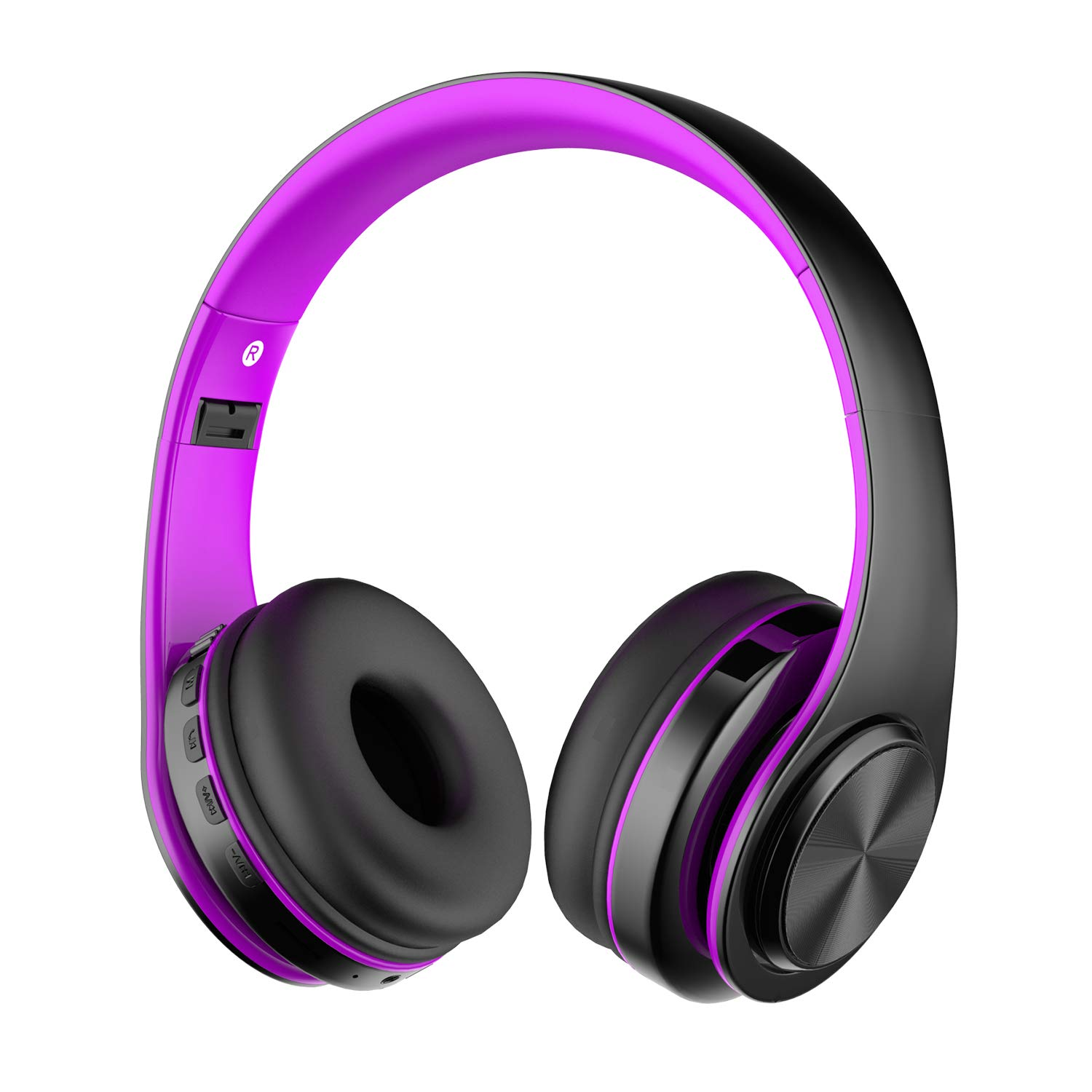 Alitoo Auriculares Inalámbricos Bluetooth Estéreo Plegable Auriculares de Diadema con micrófono Cancelación de Ruido sobre Oreja Cascos para Smartphone,PC,TV,Tableta,Android,MP3 y MP4 (Black&Purple): Amazon.es: Electrónica