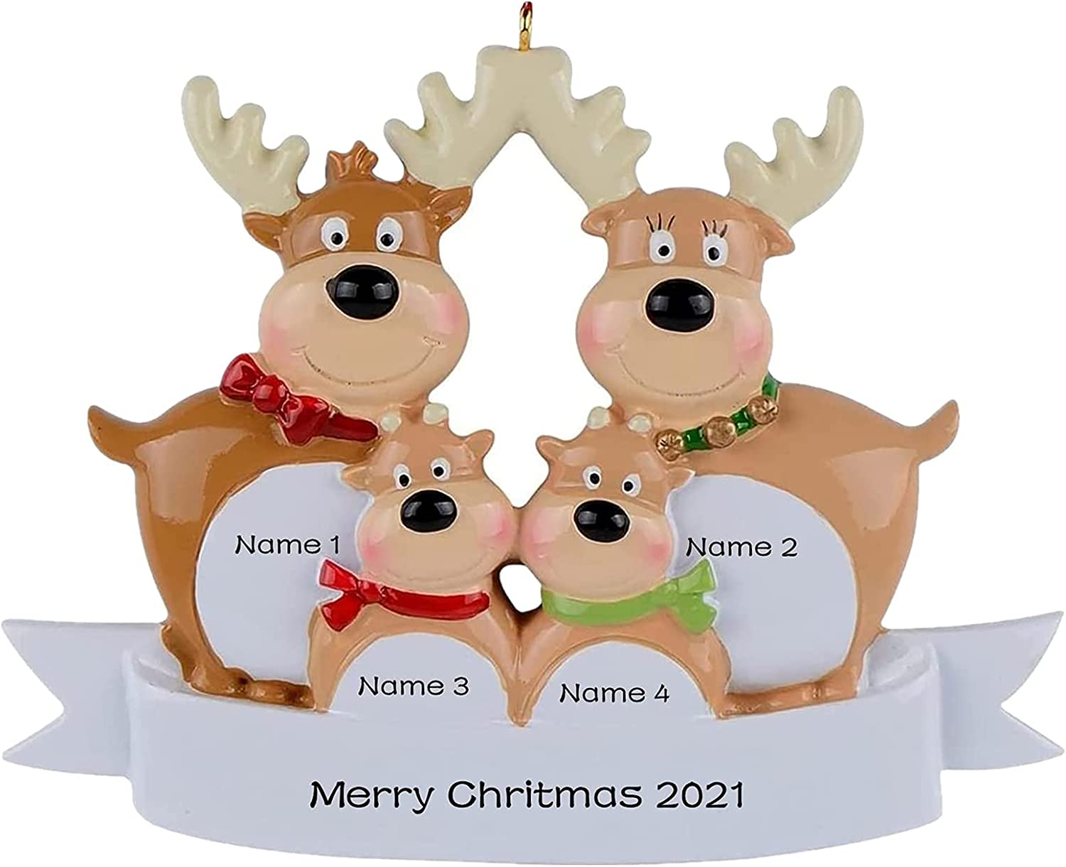 Max 66% OFF 2021 Personalized Reindeer Christmas Commemorative Ornament Dedication Orn