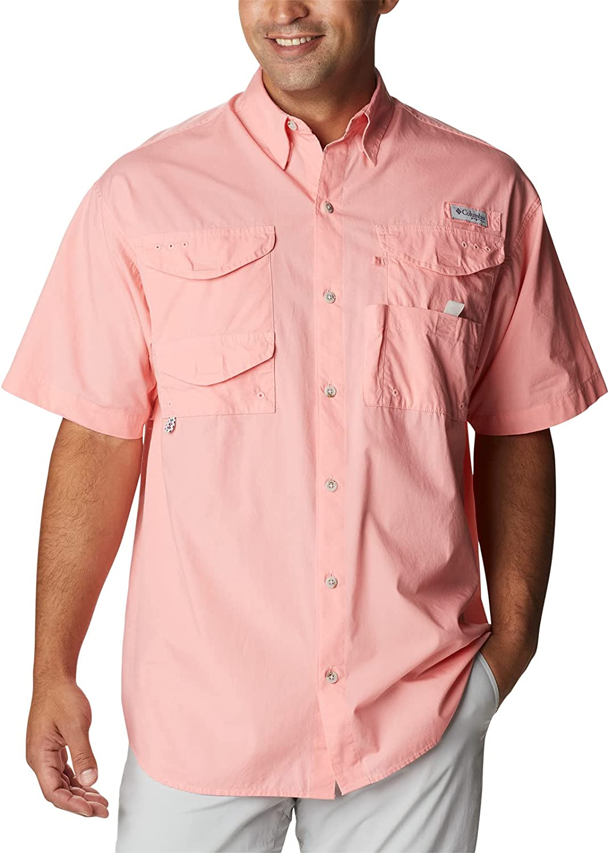 Columbia Men's Big & Tall Bonehead Short Sleeve Shirt, Sorbet, 5X B&T