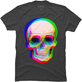 Design By Humans 3D Skull Men's Graphic T Shirt