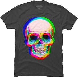 Design By Humans 3D Skull Men's Graphic T Shirt