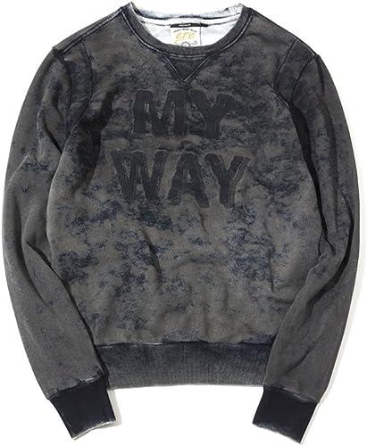 T - Shirt sweat à capuches British Cotton Wash Vieux t - Shirt lavé,Photo Couleur,XL