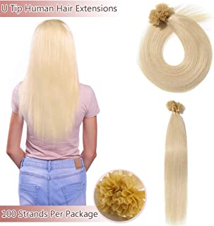 Best nail tip pre bonded human hair extensions Reviews