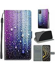 Xiaomi Poco M3 Case, SATURCASE Mooie PU Lederen Flip Magneet Portemonnee Stand Kaartsleuven Handriem Beschermhoes Cover voor Xiaomi Poco M3 (DY-8)