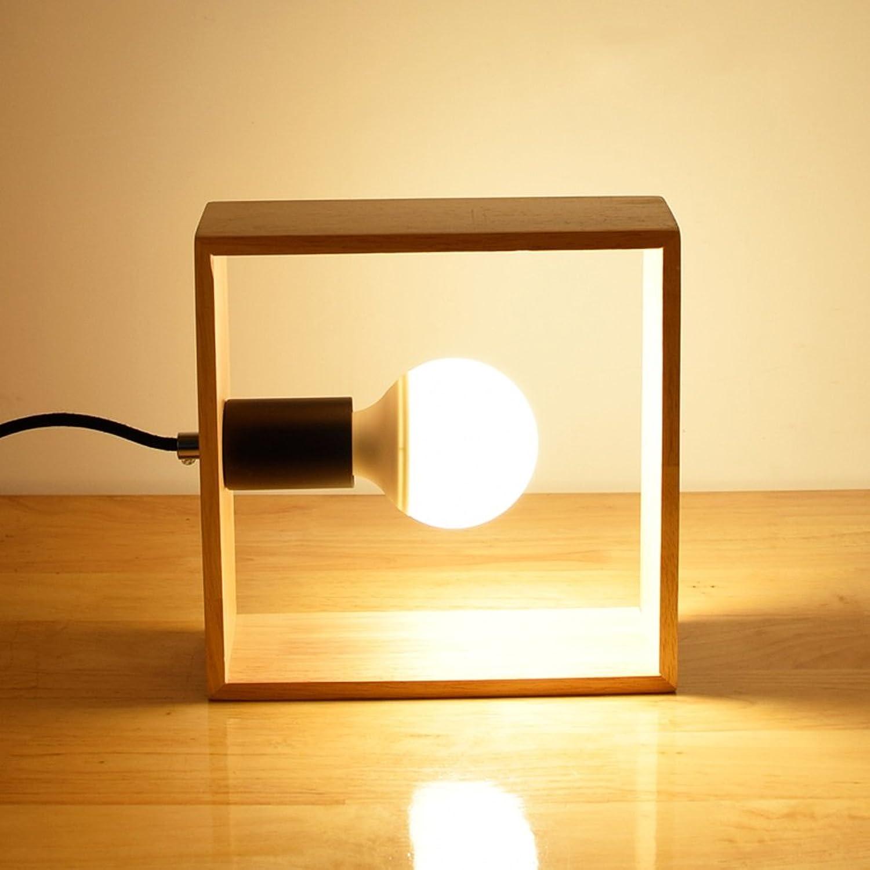 Moderne quadratische Holzlampen, LED-Energiesparlampen, Wohnzimmer Schlafzimmer Des bar Lichter, 20  20cm