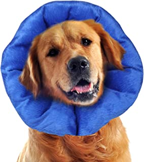 LUCKUP Dog Recovery Collars & Cones Soft Pet Recovery Collar with Removable Stays Adjustable Inflatable Stays … …