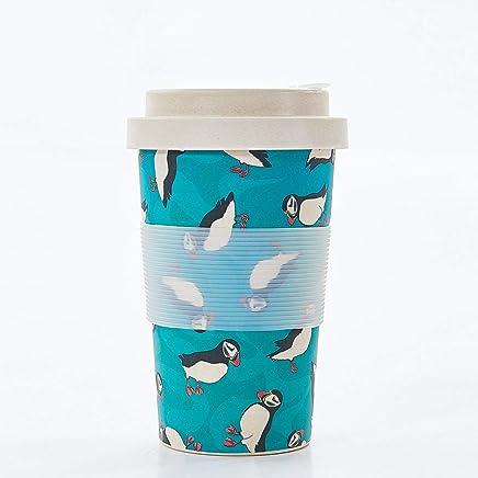 Preisvergleich für Eco Chic Wiederverwendbare Bambus Kaffeetasse (Papageientaucher)