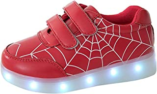 Boys and Girls Spider Web Colorful Luminous Shoes USB Charging led Lighting Sneakers