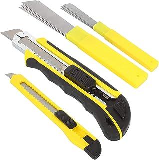 COM-FOUR® 2x skärkniv med reservblad - Verktygskniv - Skarp kniv i två storlekar (17 + 14cm - 02 stycken)